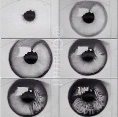 Eye drawing tutorial // so realistic 😍 // credit: unknown Eye Drawing Tutorials, Drawing Techniques, Art Tutorials, Drawing Ideas, Drawing Tips, Sketch Ideas, Pencil Art Drawings, Art Drawings Sketches, Cool Drawings
