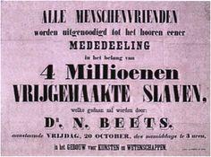Nicolaas Beets, bewoner Boothstraat 6, zette zich in voor de afschaffing van de slavernij.
