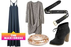 How to wear a maxi dress in fall