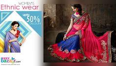 "Get UPTO 50% Discount on ethnic wear.  Buy now -->http://goo.gl/QOOtDA  ""Shopping itni easy pehle kabhi na thi.."""