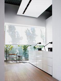 empfang mit usm haller empfangstheke (mit zwei ausziehtüren, vier ... - Home Office Mit Ausblick Design Bilder