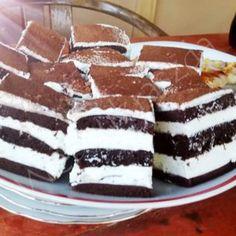 Madártej torta Tiramisu, Cherry, Baking, Ethnic Recipes, Ding Dong, Food, Mascarpone, Bread Making, Meal