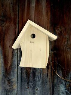 Nistkasten für Meisen, Vogelhaus, unbemalt von Vogel-Tom auf DaWanda.com