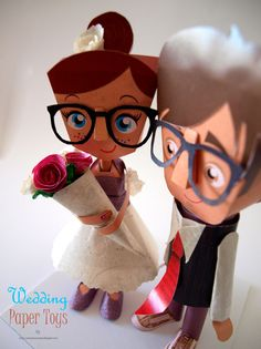 Wedding Paper Toys Hipsters