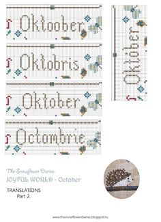 The Snowflower Diaries: JOYFUL WORLD - OCTOBER PATTERN