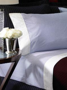 Greenwich Modern Stripe Sheets - Lauren Home Printed Sheets & Pillowcases - RalphLauren.com