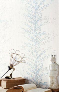 collection Sherwood - papier peint vinyle sur intissé - référence Guirlande bleue 67906048 - facile à poser