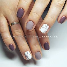 Nail art Christmas - the festive spirit on the nails. Over 70 creative ideas and tutorials - My Nails White Nail Designs, Nail Art Designs, Accent Nail Designs, Short Nail Designs, Nail Designs Spring, Nails Design, Hair And Nails, My Nails, Nagel Gel