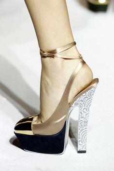 YSL Gorgeous super high amazing printed leather, metallic, and suede heels! omg these shoes have it all!