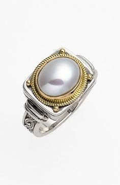 Konstantino 'Classics' Pearl Ring available at #Nordstrom