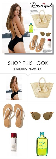 """""""Monokini High Cut Backless One Piece Swimwear"""" by nedim-848 ❤ liked on Polyvore featuring Giselle, Hollister Co., Ahlem, Cellcosmet and Calvin Klein"""