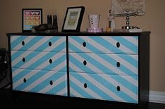really love this diy on a dresser. id just do mine in pink and cream