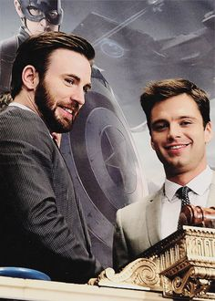 Chris Evans and Sebastian Stan - Captain America: The Winter Soldier