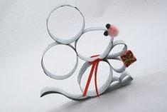 Told you I'd be back with another one! This time, I've put together a pair of Christmas mice. Or tw. Summer Programs For Kids, Christmas Themes, Christmas Crafts, Coffee Filter Crafts, Paper Towel Rolls, Toilet Paper Roll Crafts, Summer Kids, Craft Gifts, Diy And Crafts
