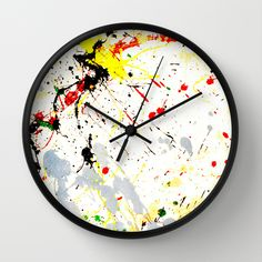Paint Splatter  Wall #Clock - -- Also available on #homedecor,prints & more at #Society6  by #Gravityx9 -