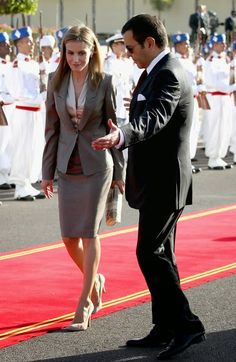 King Felipe and Queen Letizia arrived in Morocco on an official two-day visit to present as new rulers of Spain. They were greeted at the airport by the King of Morocco, his wife and the royal family.