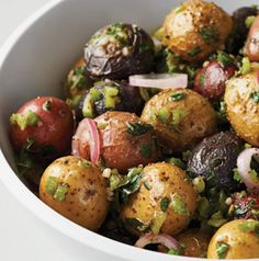 Smoked Potato Salad - as with meat, smoking potatoes adds intense flavor. Make plenty and use the leftovers for smoked mashed potatoes - another deeply satisfying dish.