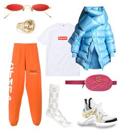 """""""Untitled #56"""" by kamamgbo ❤ liked on Polyvore featuring Heron Preston, Balenciaga, Gucci, Gentle Monster and Luv Aj"""