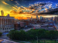 Another day begins for the Paris of The Plains...   Photo by Jeff ...
