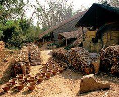 Twantay terracotta pottery in Myanmar (Burma)
