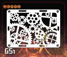 CAS Professional Airbrush Stencil - GS1 - Gears
