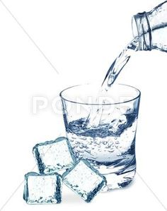 ice cubes and water stock photos