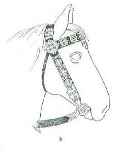 Illustration of the bridle from Vendel III boat grave
