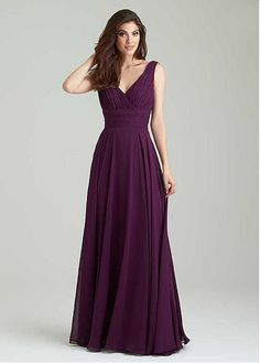 Buy discount Gorgeous Chiffon V-Neck Neckline A-Line Bridesmaid Dresses With Pleats at Dressilyme.com