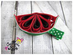 Watermelon Ribbon Sculpture Hair Clip. Watermelon by creationslove