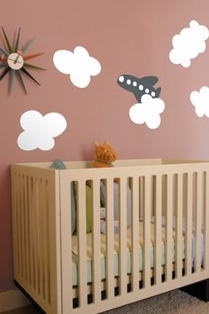 CLOUD ~ RE-STIK | It's a bird, it's a plane, it's…oh, wait…it is a plane. Made with Blik Re-Stik, these puffy clouds can be reused. Arrange on your wall and let the daydreams begin.