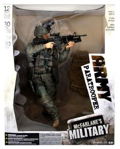 McFarlane's Year 2006 Military Series 12 Inch Tall Deluxe Soldier Action Figure - ARMY PARATROOPER