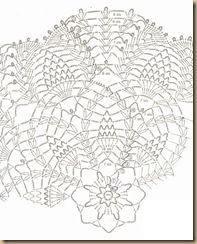 crochê padrões para doilies