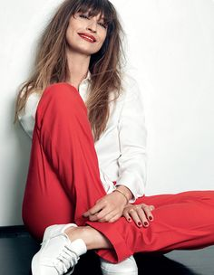 Caroline de Maigret's Beautiful Laid-Back Spread For Elle Belgium via @WhoWhatWear