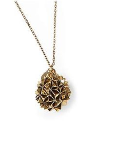 House of Harlow 1960 Crater Locket Necklace...<3 the funky texture like crinkled paper