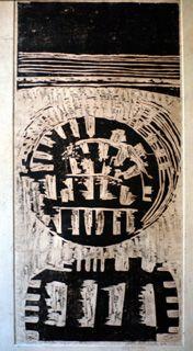 Xilografía (Buenos Aires,1962) Pérez Celis (Argentina 1939-2008)