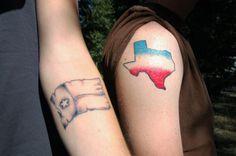 Patriotic State of Texas Tattoo