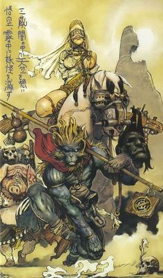 Monkey King by Katsuya Terada Art And Illustration, Character Inspiration, Character Art, Dope Kunst, Arte Steampunk, Serpieri, Samurai Artwork, Comic Kunst, Monkey King
