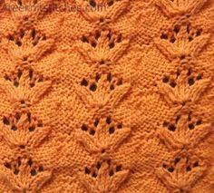 Trefoil knitting stitches