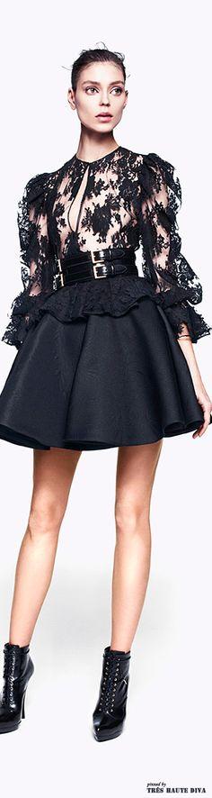Alexander McQueen Pre-Fall black cocktail dress