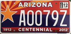 Very colourful personalised plates from Arizona! Like or Dislike?