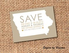 Save the dates: cute idea, especially since we love the Yoop so much.