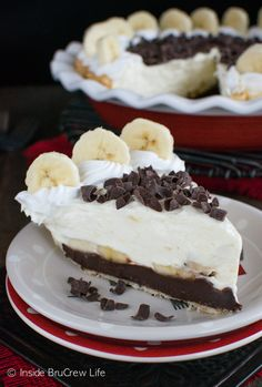 Adding layers of fudge, banana, and banana pudding makes this Fudge Bottom Banana Cream Pie an amazing dessert to share with friends.