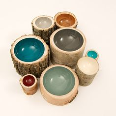 Log bowls. I'm still deciding if I like these. What do you think?