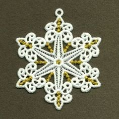 FSL Snowflake 9, 3 - 4x4 | FSL - Freestanding Lace | Machine Embroidery Designs | SWAKembroidery.com Ace Points Embroidery