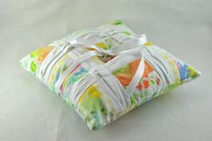 Pleated Sheets Ring Pillow (for Coats + Clark) by Lindsay Sews {@CraftBuds}, via Flickr