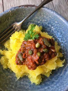 Kürbis Spaghetti alla Puttanesca Paleo & Low Carb