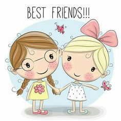 Illustration of Two Cute cartoon girls keep for hands vector art, clipart and stock vectors. Cartoon Cartoon, Cute Cartoon Girl, Cartoon Drawings, Cartoon Characters, Girls Holding Hands, Cute Illustration, Cute Art, Vector Art, Vector Graphics