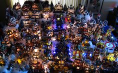 Overall view of the Christmas Village.