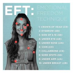 EFT is a form of psychological acupuncture that uses light tapping with your fingertips instead of inserting needles to stimulate traditional Chinese acupuncture points.
