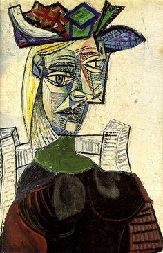 Femme assise au chapeau - Picasso - 1939